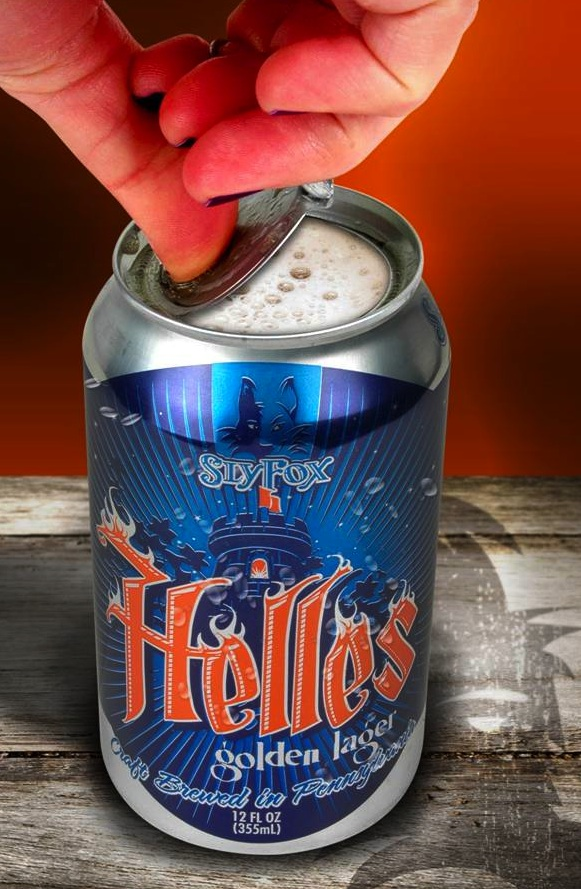 Helles Golden Lager Canned Craft Brew with 360 End™ by Crown