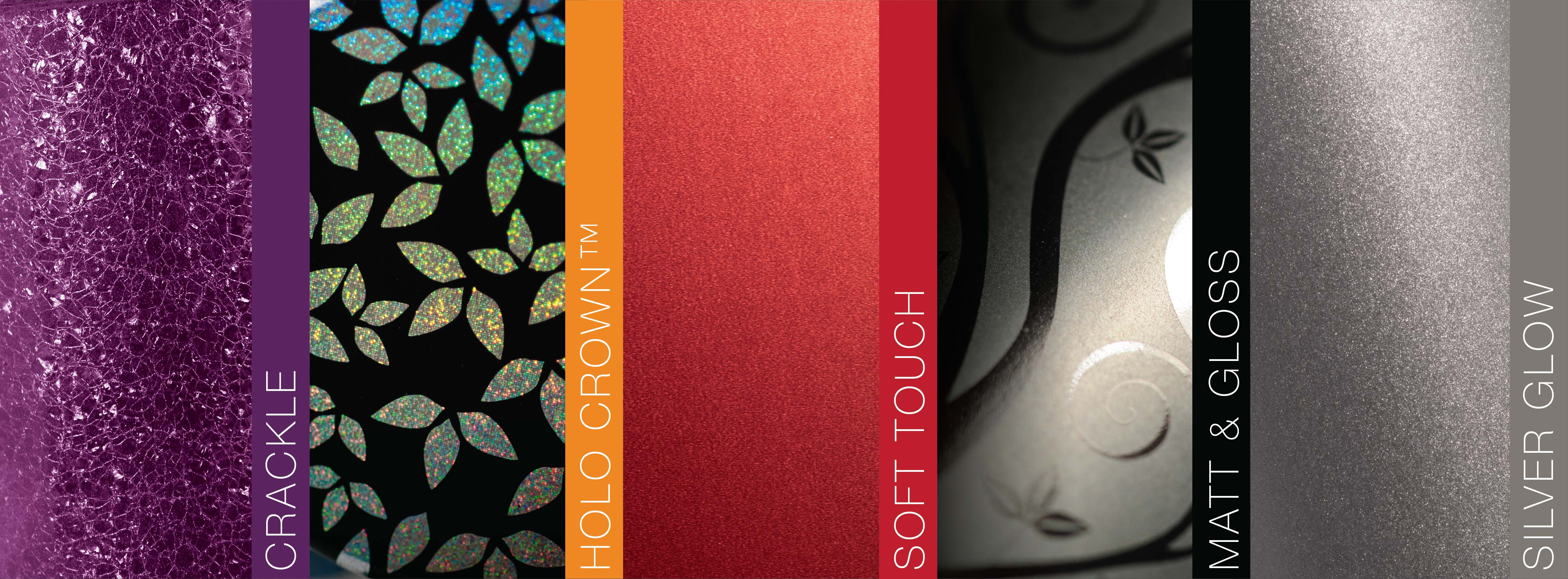 sample of various finishes