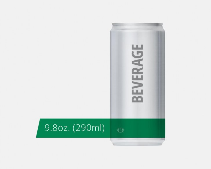 9.8oz. 204.5 Beverage Can