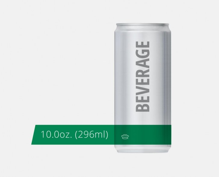 10oz. 204.5 Beverage Can