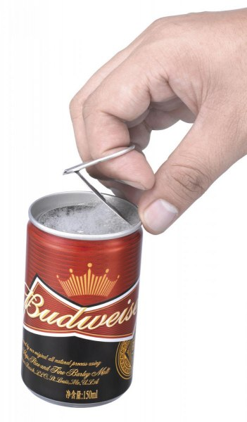 Budweiser can with 360 End being removed