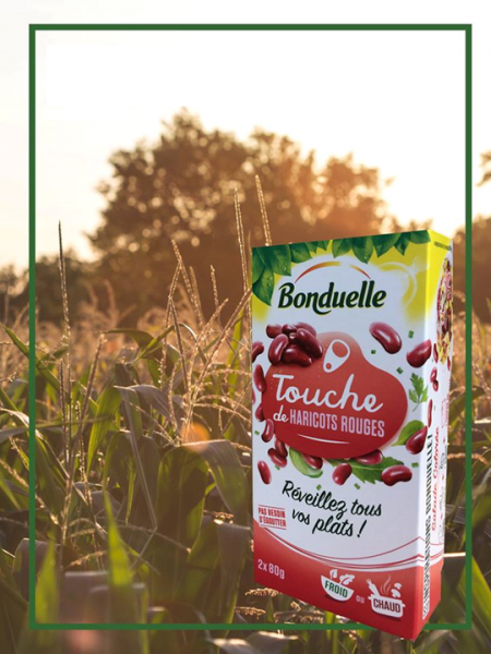 Bonduelle vegetable cans