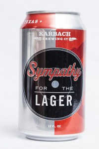 Sympathy for the Lager beer can design