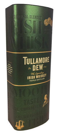 Tullamore D.E.W. whiskey tin