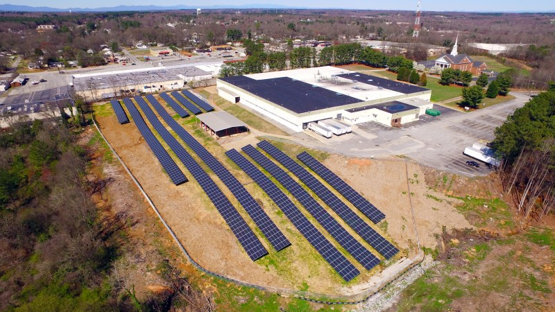 Solar Panels at the Crown facility in Spartanburg, South Carolina