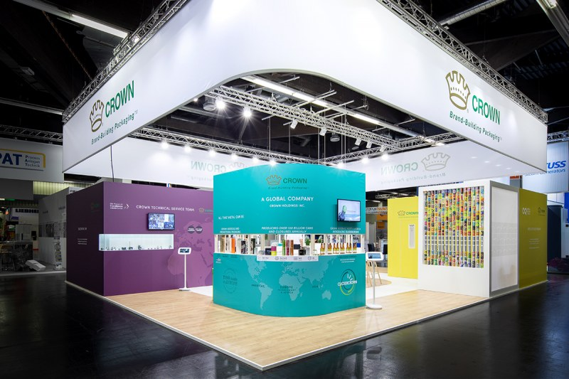 Crown display booth at BrauBeviale 2019