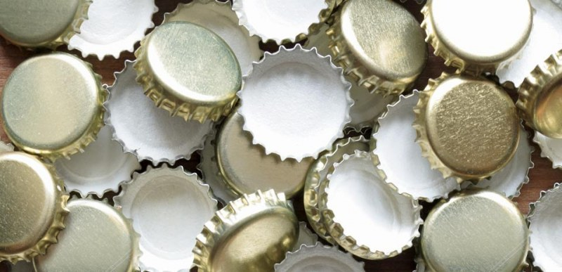 Picture of silver bottle caps