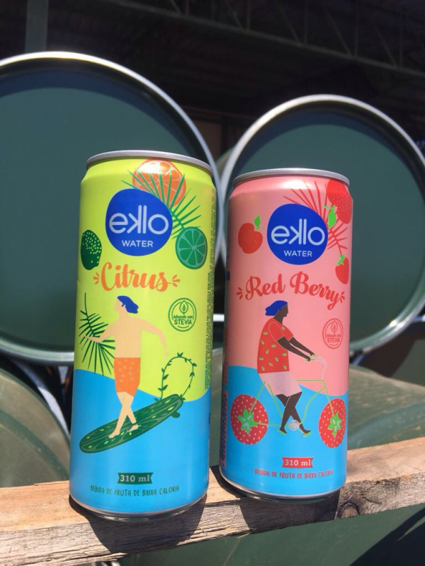 Eklo flavored water in cans