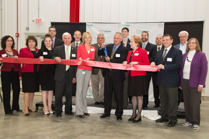 Crown team at ribbon cutting ceremony