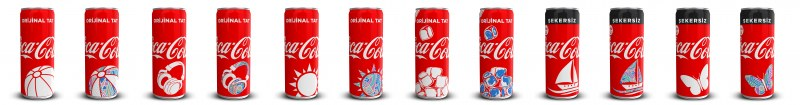 Coca-Cola Turkey thermochromic cans