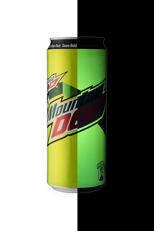 Glow-in-the-dark Mountain Dew Can