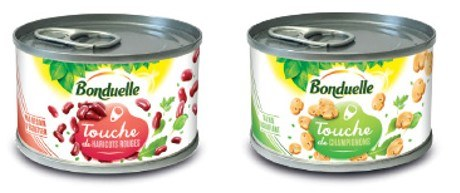 Two cans of single-portioned canned vegetables