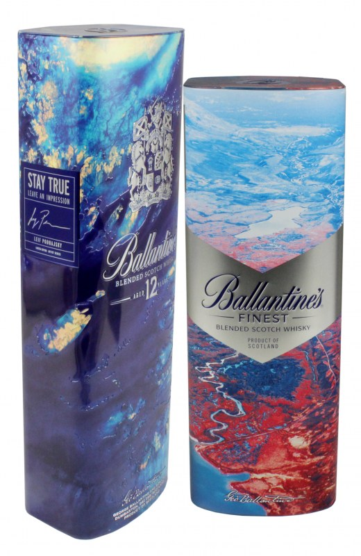 Decorative Tins for Ballantine's Scotch