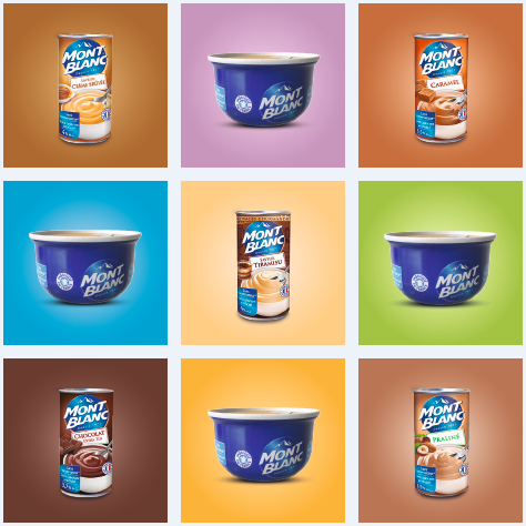 Nine pictures of mont blanc food cans