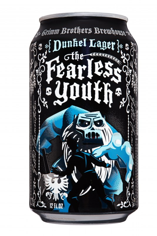 Fearless youth craft brew beverage can