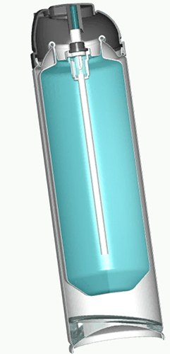 Cross section of BICAN® aerosol packaging