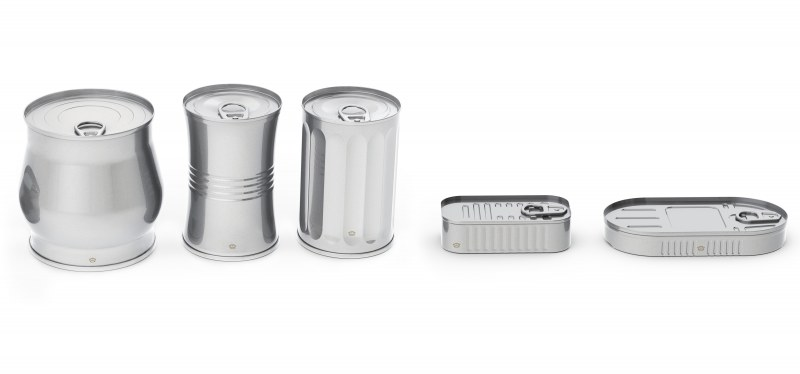 Various shaped food cans