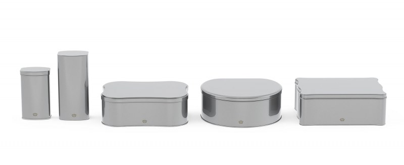 Irregular tins in different shapes and sizes