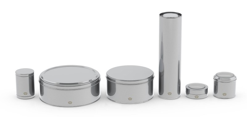 Round Tins of varying dimensions