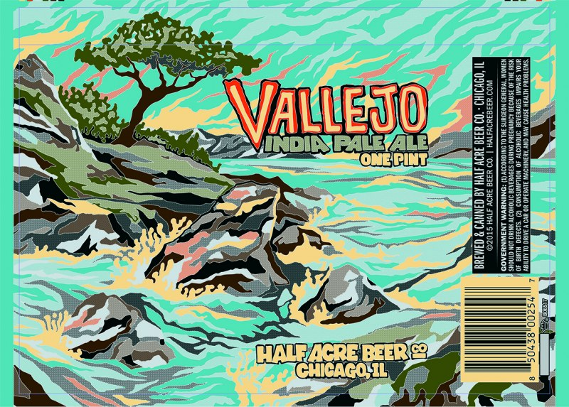 Half Acre Vallejo IPA in Crown Cans