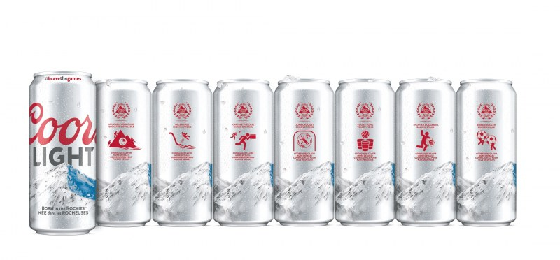 Coors Light Cans With Crown Accents