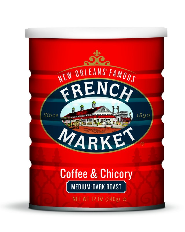 French Market Coffee food can