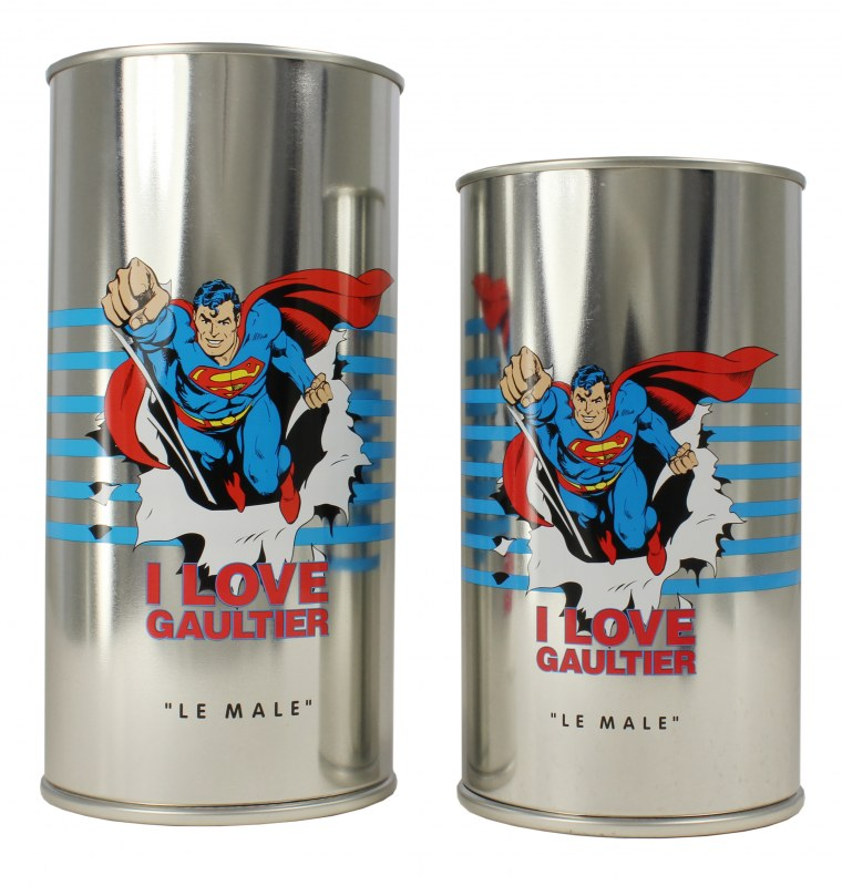 Jean-Paul Gaultier Perfume can with Superman
