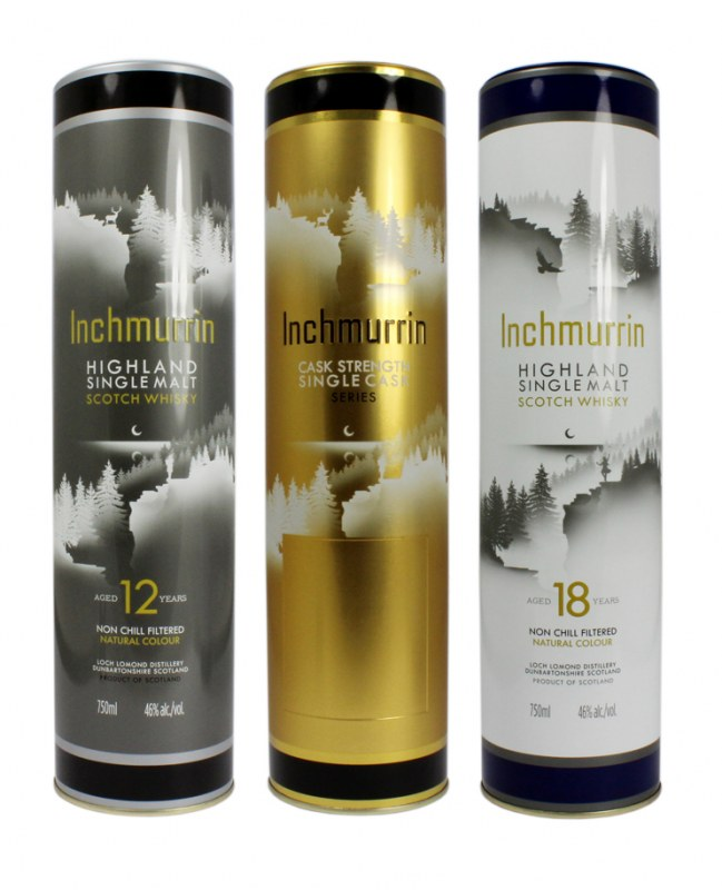 Specialty tins for Inchmurrin whisky