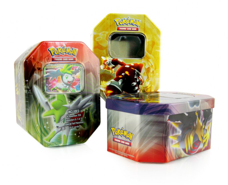 Metal tin toy packaging for Pokemon