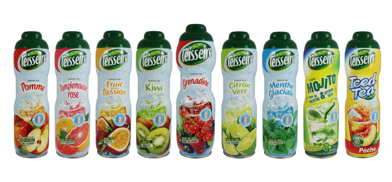 Teisseire liquid syrup packaging using blowforming technology