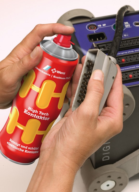 Easy-to-grip shaped aerosol can for Wera Tools