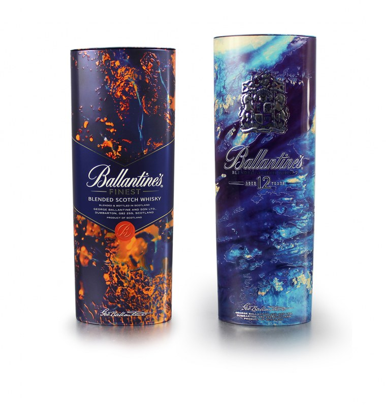 Crown Christmas Tins for Ballantine's Artist Series Collection
