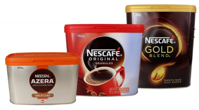 Nescafe Dawn in Crown Tins